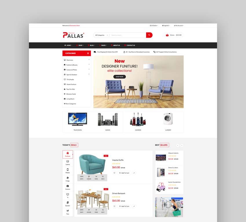 Pallas - Bootstrap 5 Electronics eCommerce HTML Template