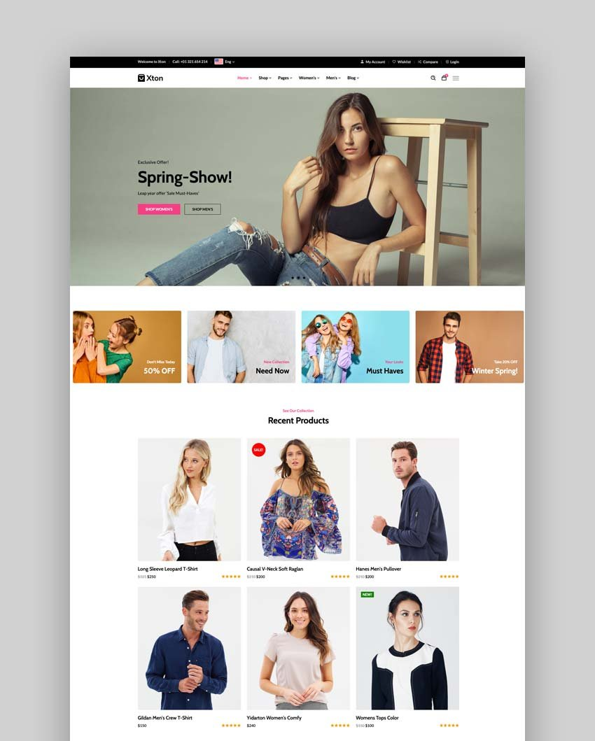 eCommerce Bootstrap 5 Template - Xton