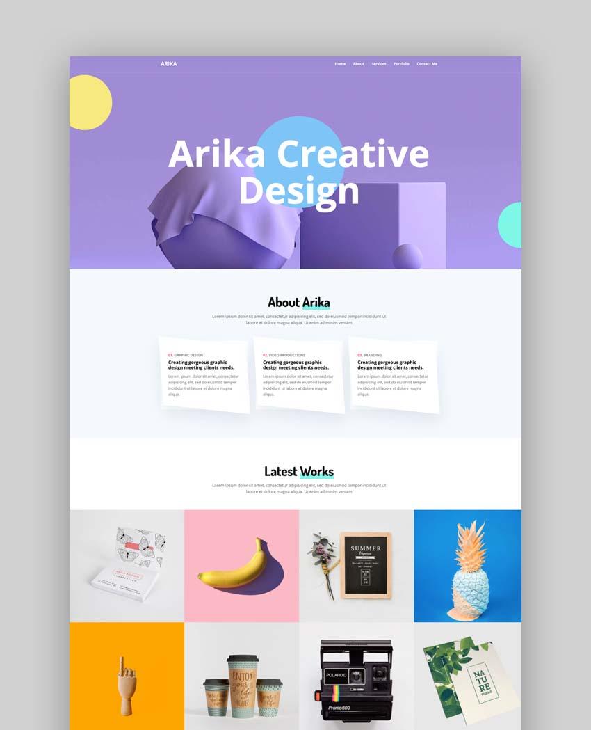Arika – Bootstrap 4 Portfolio Template