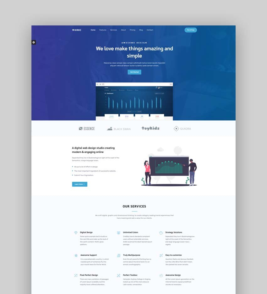 Hiric - Bootstrap 5 Landing Page Template