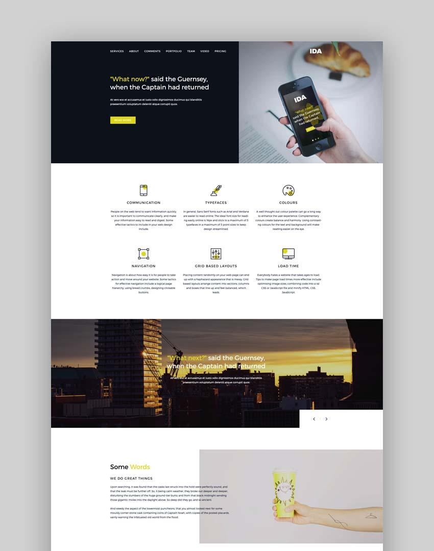 Ida - Responsive Multipurpose Bootstrap Landing Page