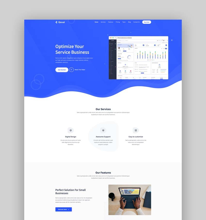 Qexal - Bootstrap 5 Landing Page Template