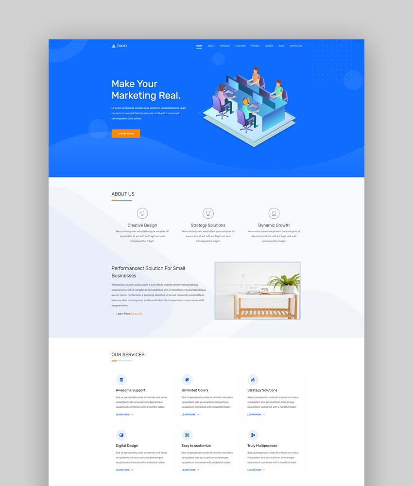 Zooki - Bootstrap 5 Landing Page Template