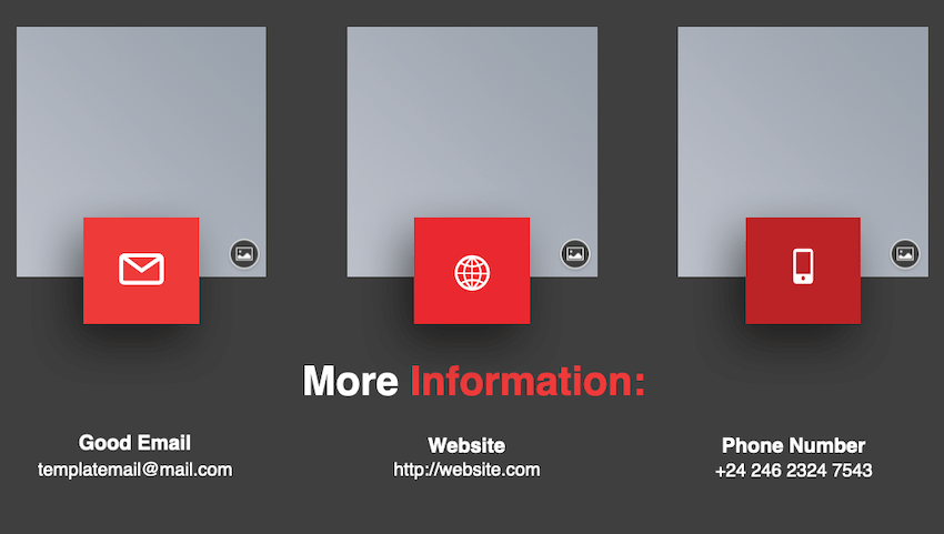 Frearee - PowerPoint Template offers a good example of displaying contact information