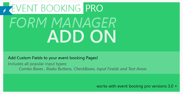 Event Booking Pro Forms Manager Add On