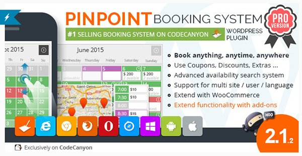 Pinpoint Booking System PRO - Book everything with WordPress