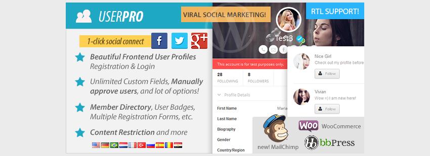 UserPro - User Profiles with Social Login