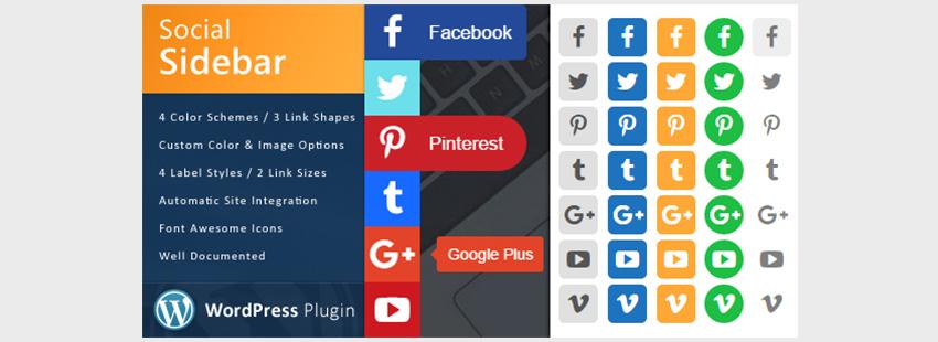 WordPress Social Sidebar