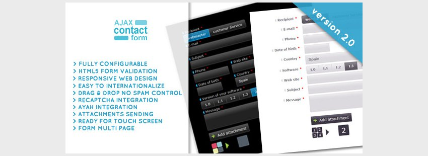 AJAX Contact Form with attachments 20