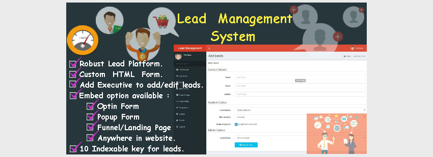 Lead Tracker or Contact with Advance Form Builder