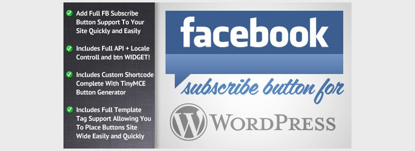 Facebook Subscribe for WordPress