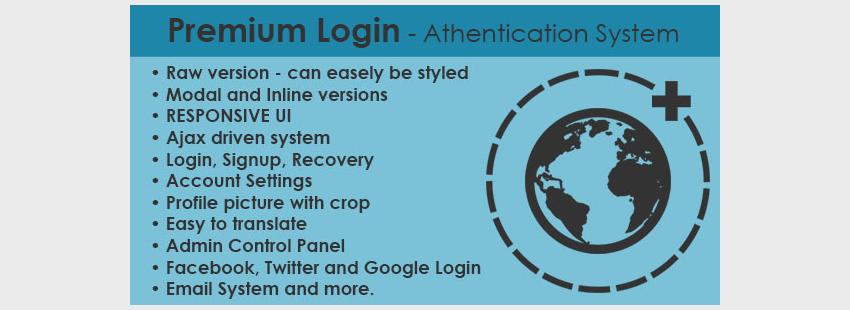 Premium Login - Authentication System