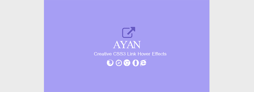 Ayan - CSS3 Link Hover Effects