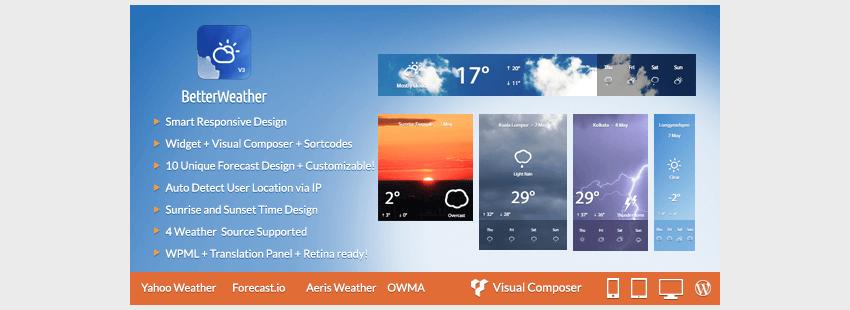 Better Weather - WordPress and Visual Composer Widget