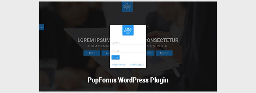 PopForms Material Design WordPress Modal Forms Set