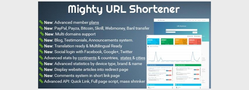 Mighty URL Shortener Short URL Script