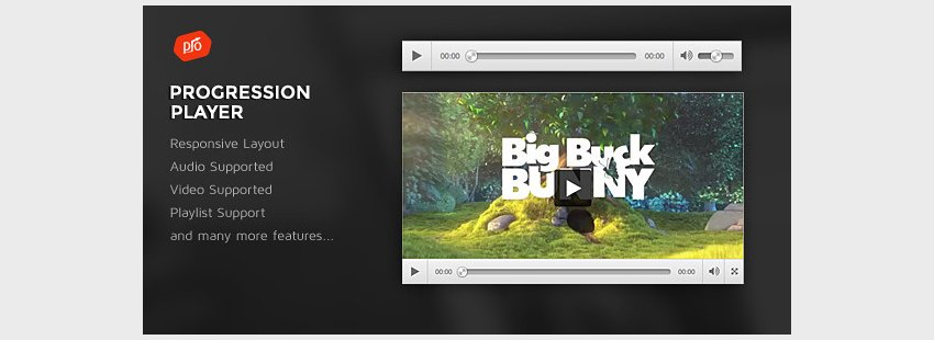 ProgressionPlayer - Responsive AudioVideo Player