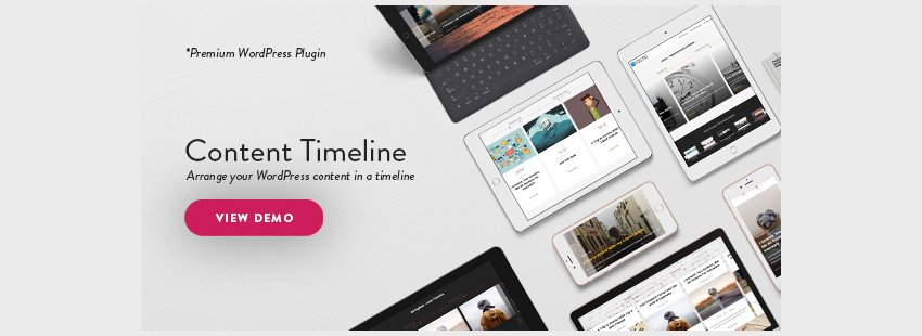 Content Timeline - Responsive WordPress Plugin for Displaying PostsCategories in a Sliding Timeline