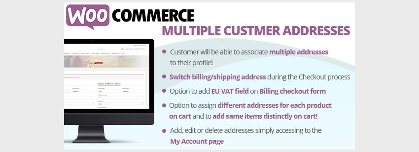 WooCommerce Multiple Customer Addresses
