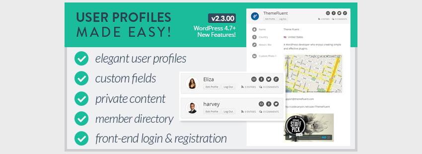 User Profiles Made Easy - WordPress Plugin