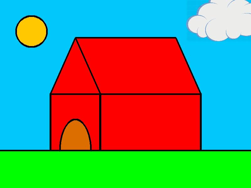 PHP GD Filled Hut Color