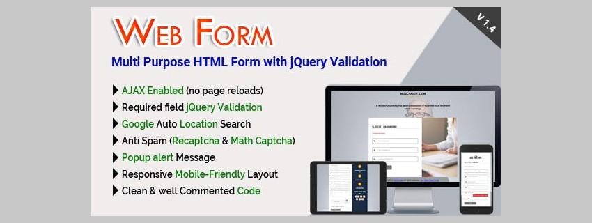 Multi-purpose HTML Form