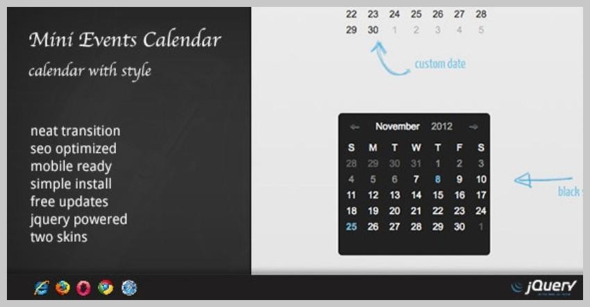 DZS Mini Events Calendar