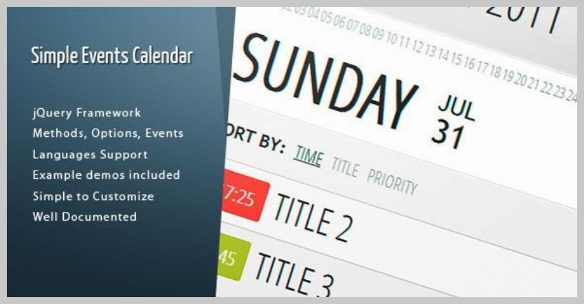 Simple Events Calendar