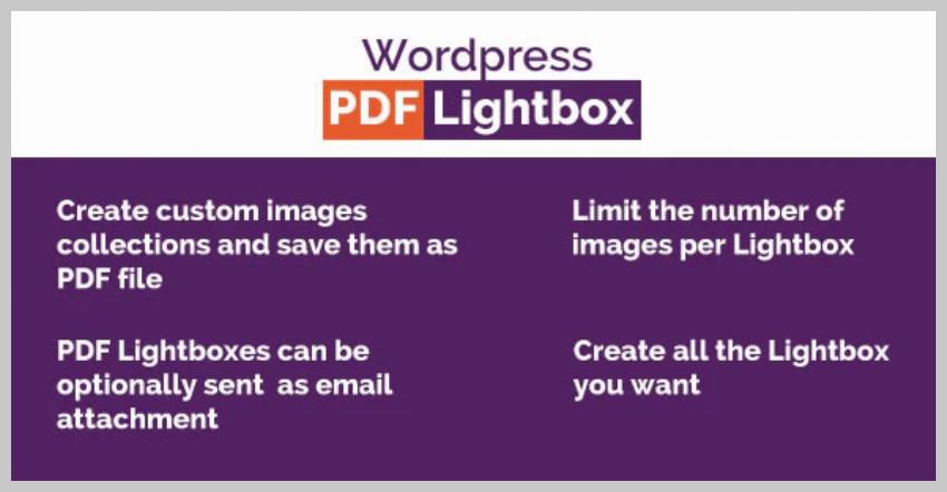 WordPress Images PDF Lightbox
