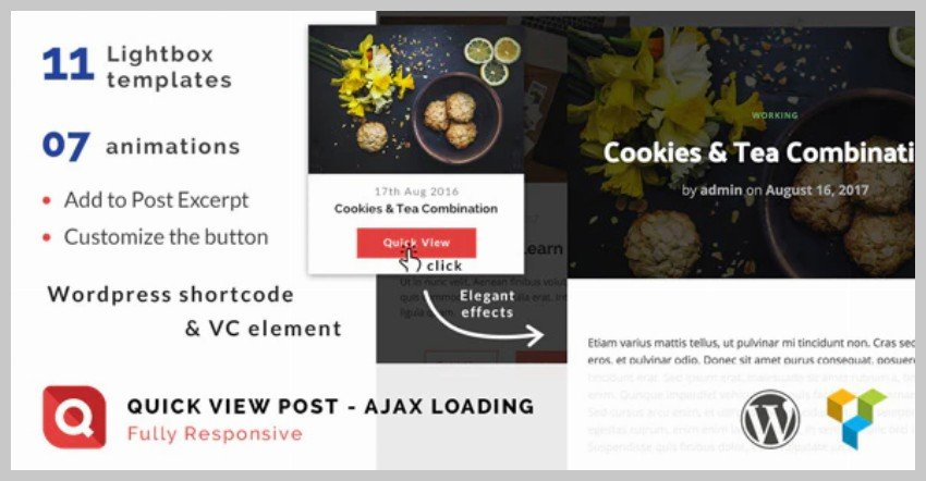 Quick View Lightbox for WordPress Post