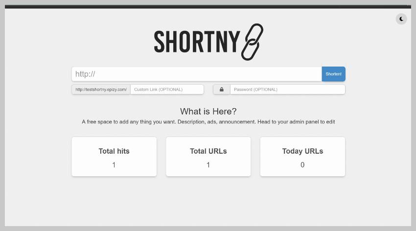 Shortny URL Shortener
