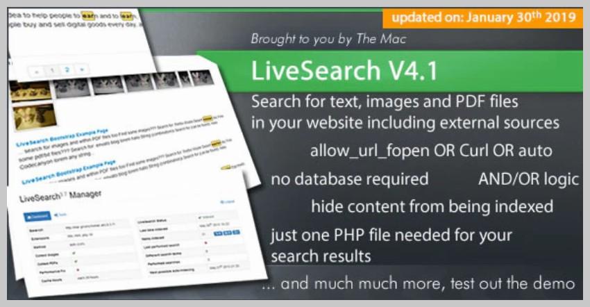 LiveSearch Plugin