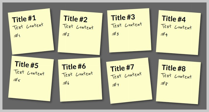 Sticky Notes: Random Rotations