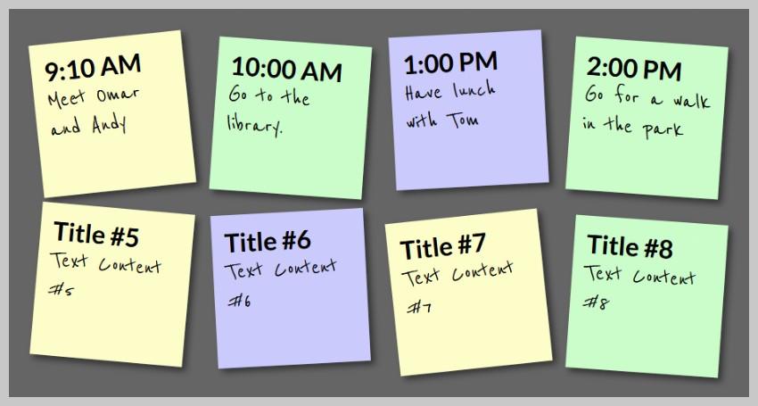 Sticky Notes: Saved Data