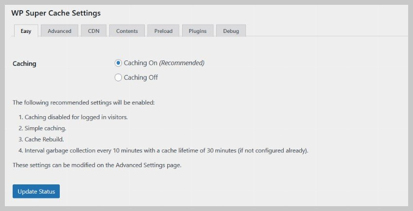 استفاده از افزونه ذخیره رایگان مانند WP Super Cache می تواند سرعت وب سایت را به میزان قابل توجهی افزایش دهد.