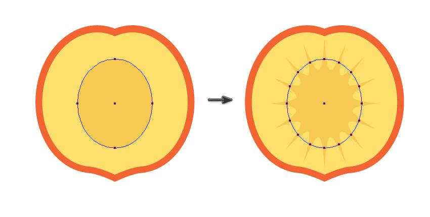 creating the sun-like shape