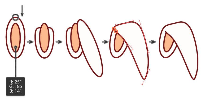 creating the bunny ear