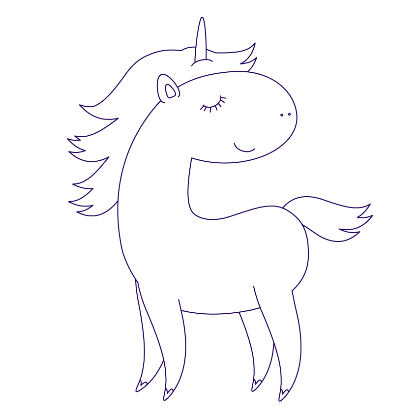 how the unicorn looks after cutting off