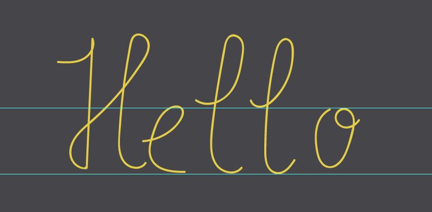 writing hello word