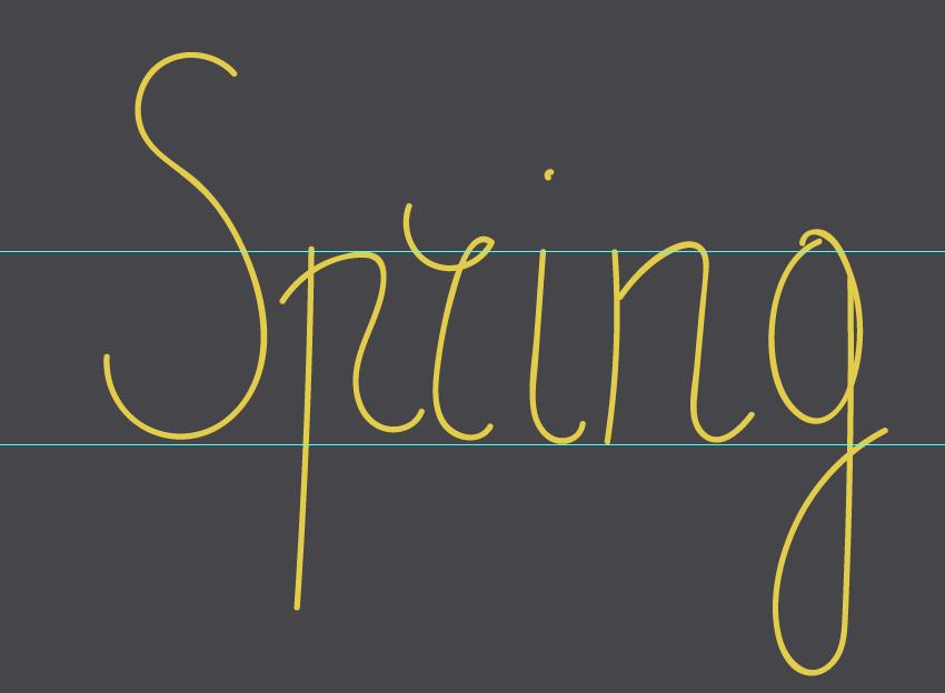 writing spring word