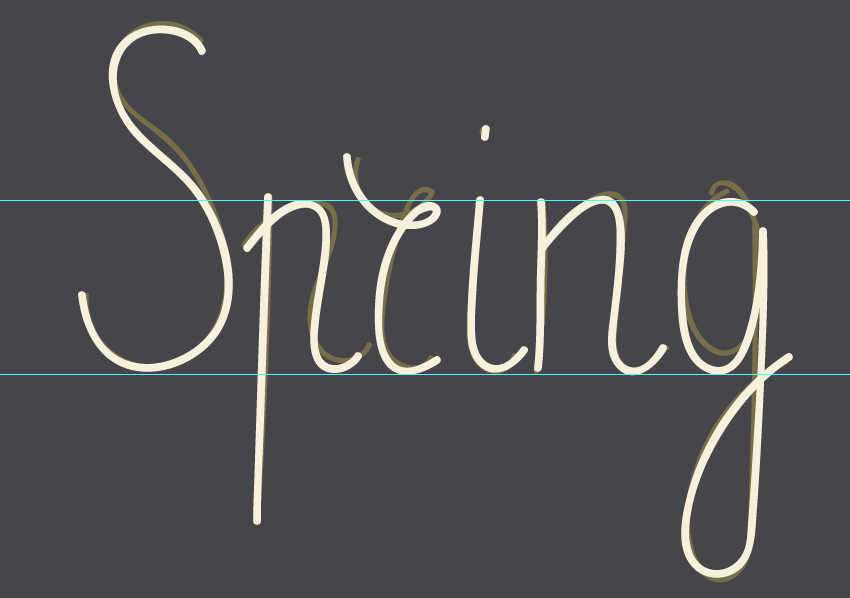 outlining spring word