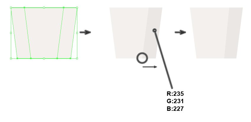 creating the base shape of the bucket 2