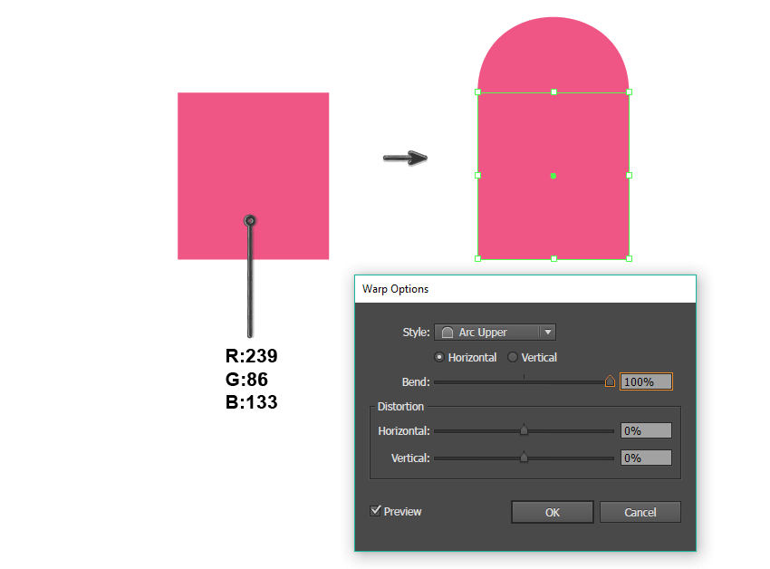creating the base of the glove