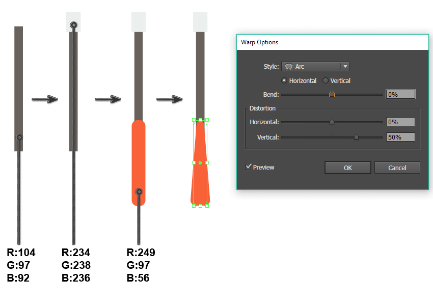 creating the squeegee handle