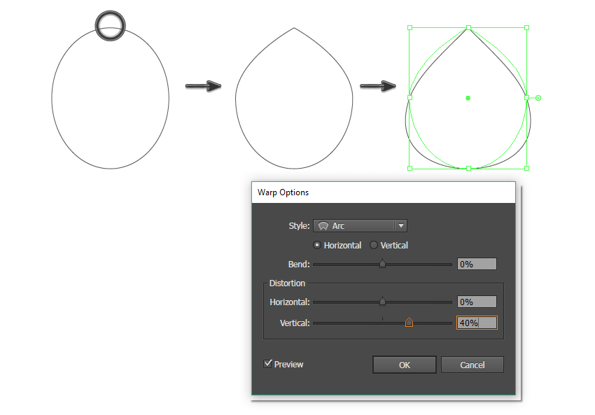 creating the main paisley shape