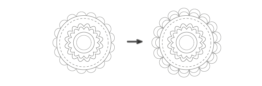 creating the flower 2