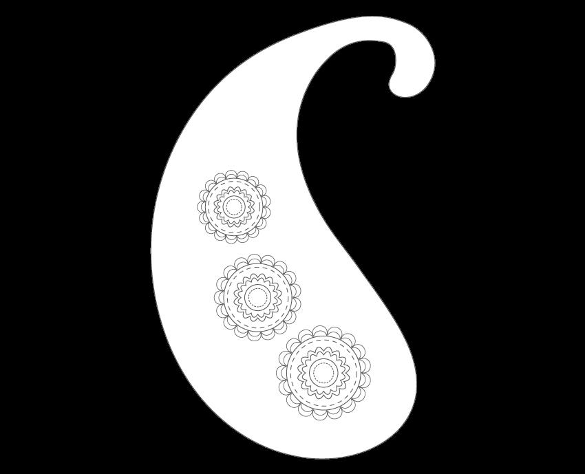 decorating the main paisley shape