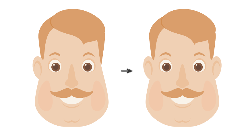 placing the ear