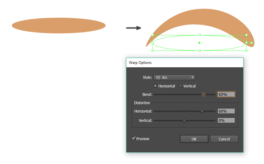 creating the eyebrow