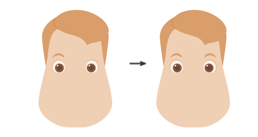 placing the eyebrow and creating another one
